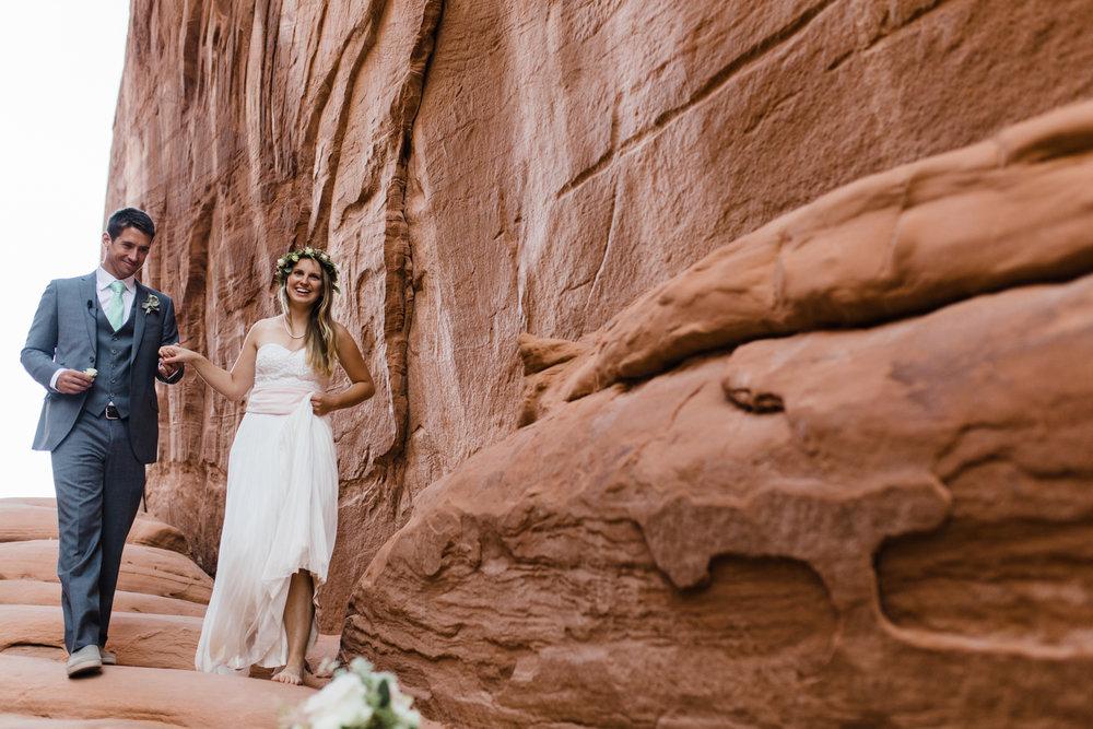arches national park elopement moab utah adventure wedding