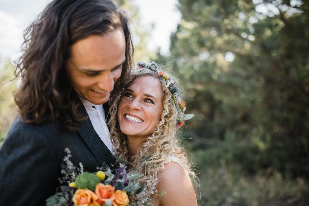 whispering oaks moab utah outdoor mountain wedding