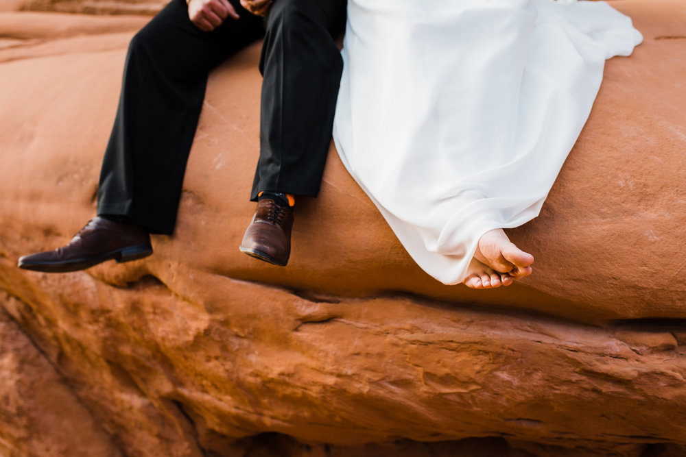 arches national park elopement adventure wedding utah
