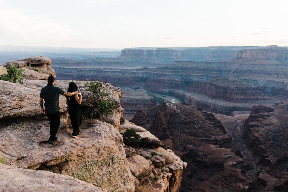 Dead Horse Point Engagement Utah Moab adventure session
