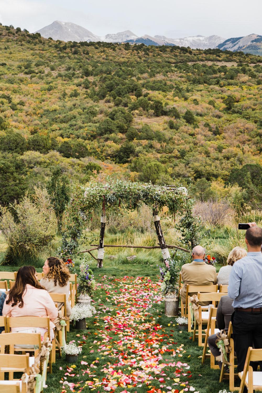whispering oaks wedding Moab Utah mountains