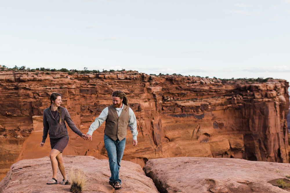 dead horse point state park Moab Utah engagement session