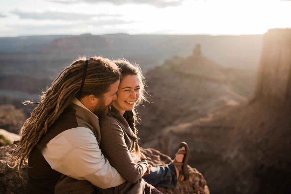 dead horse point state park Moab Utah engagement session