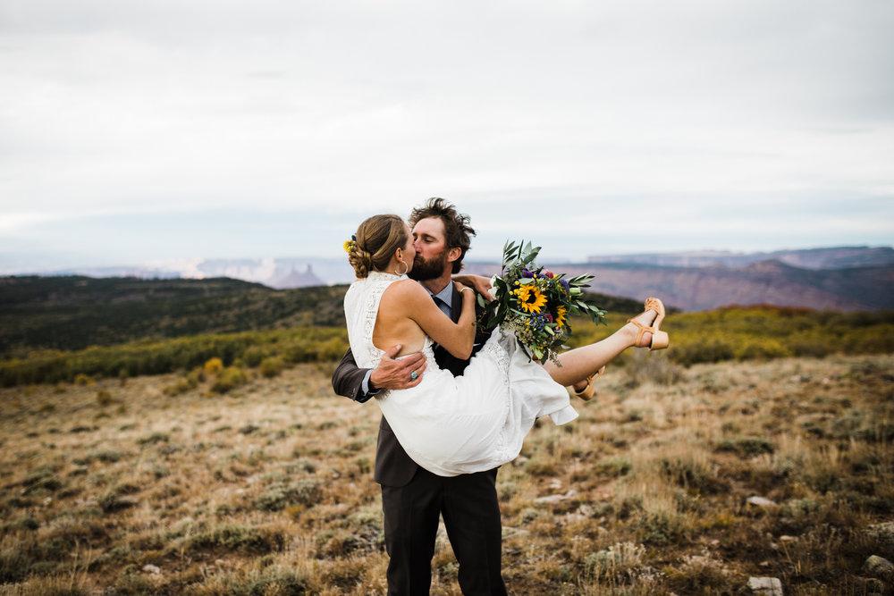 mountain wedding Moab utah talking mountain yurts