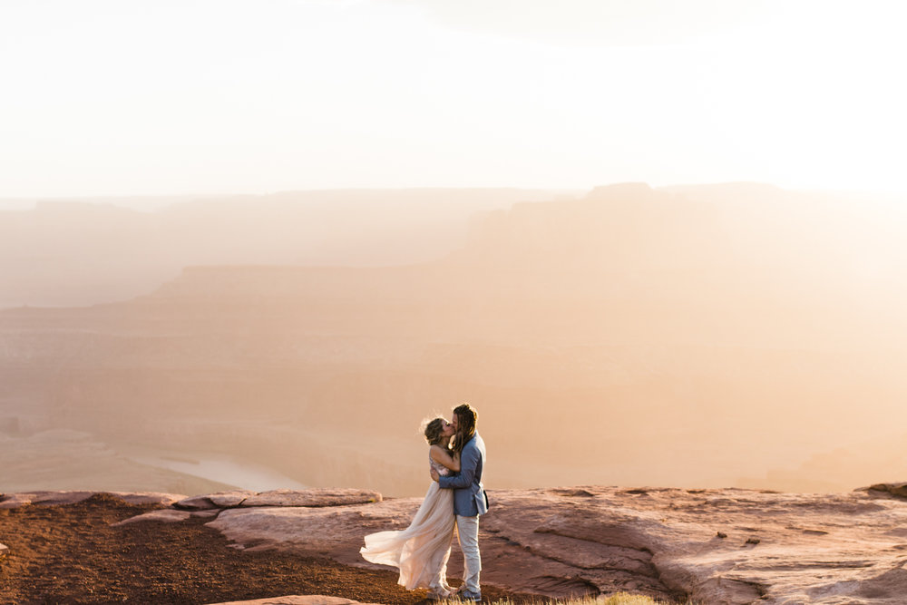 dead horse point state park moab utah wedding