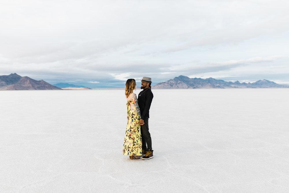salt flats salt lake city utah engagement photographer
