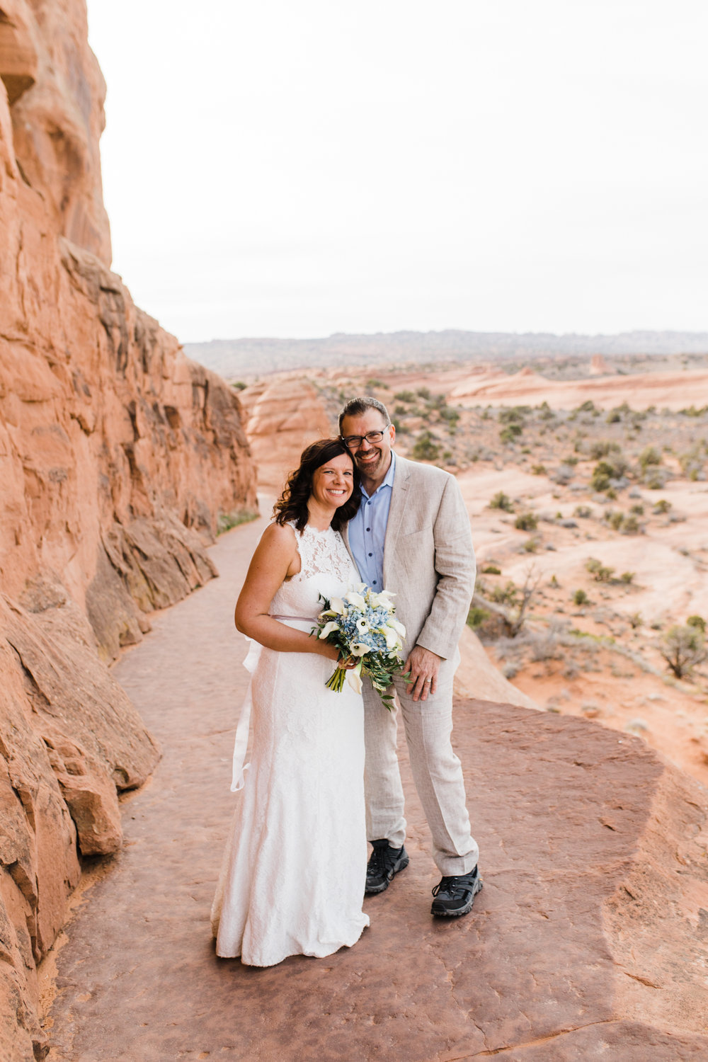 arches national park elopement adventure wedding delicate arch