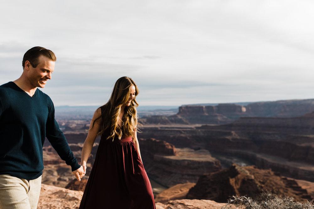 moab utah engagement photographer dead horse point
