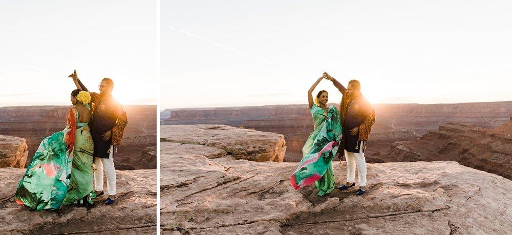 dead horse point engagement photographer