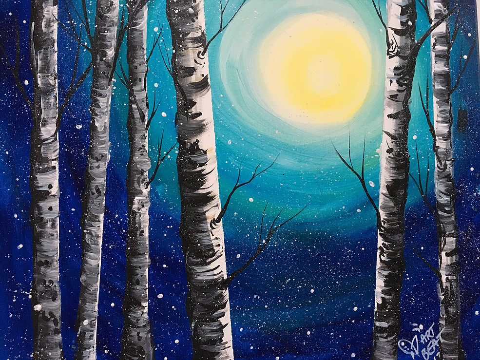 Paint 'n Sip Night - Join Sue Hanlon for a social evening of painting. Sue will guide you through a step by step painting for 2 hours. Beginners welcomed!Saturday, January 26th @ Elk View Lodge7pm-9pmAges 12+/AdultFREE Glass of Wine Included/Shuttle provided