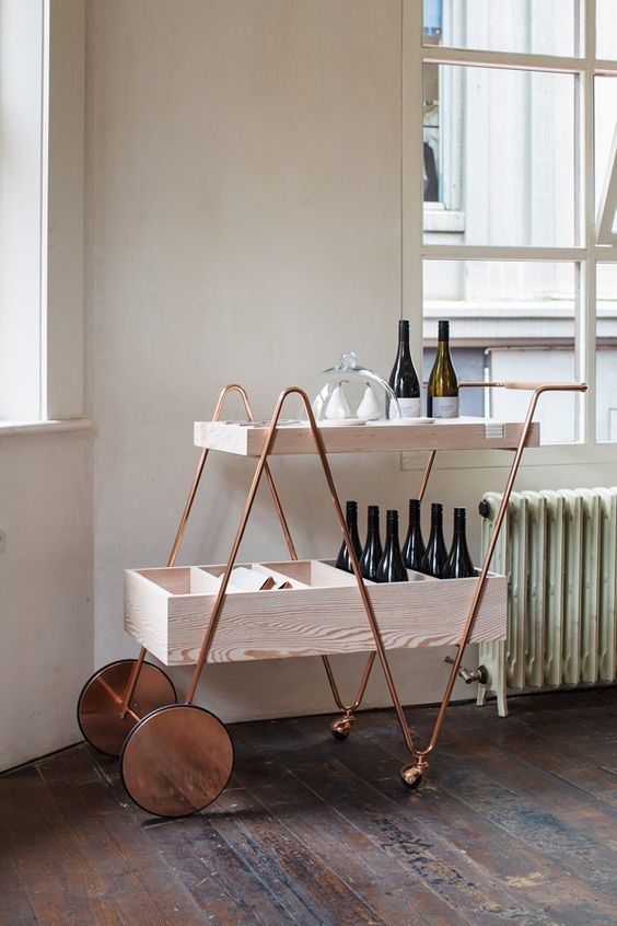 Techne x Tuckbox Wine Trolley