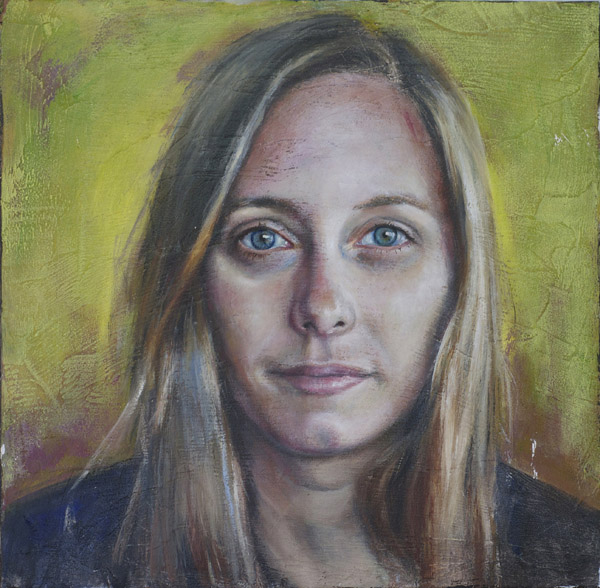 Silke Stuckenbrock,  Two Hands Project  - beeswax & oil on board. Stephanie Galloway brown