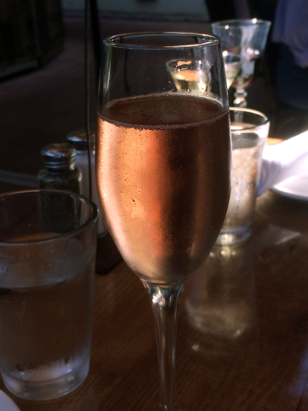 Sparkling rose - I can't think of a better way to start brunch.