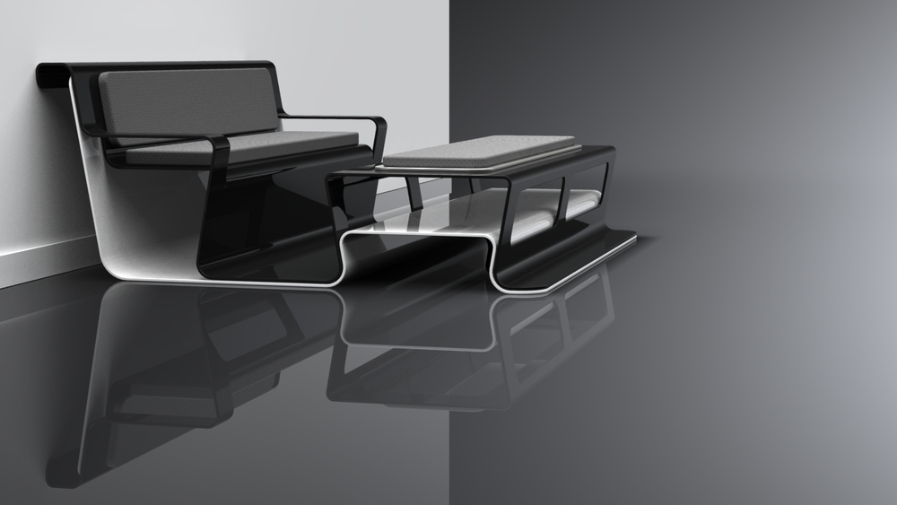 Black Lounge Table Concept