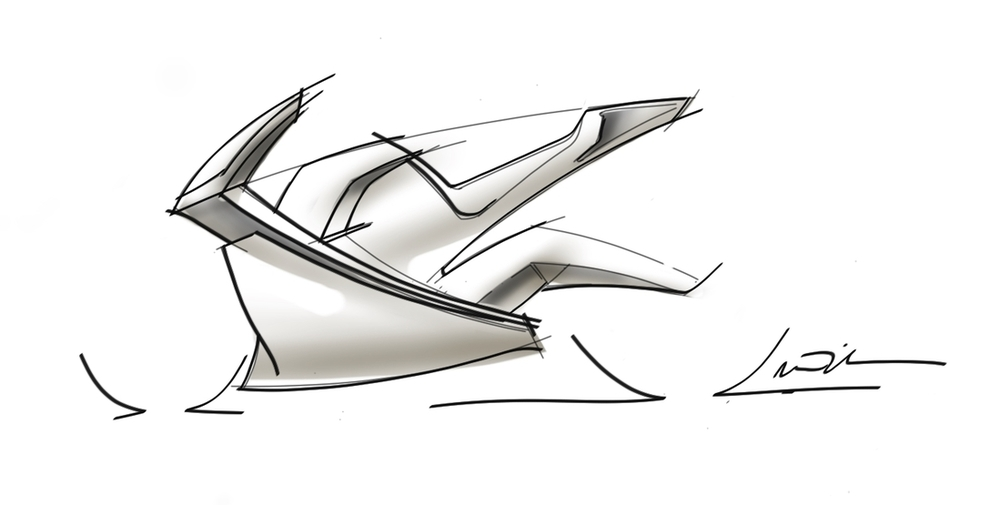 Automotive Car Concept Sketch