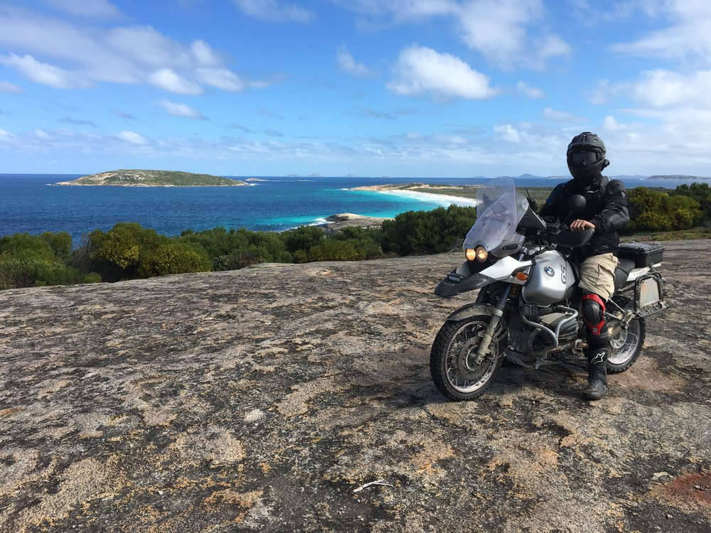 Neil in Alexandra Bay headland WA on the BMW R 1150 GSA