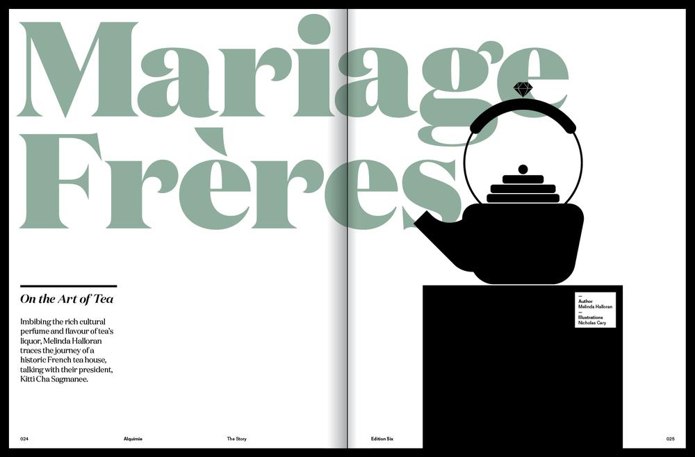 Mariage Frères by Melinda Halloran