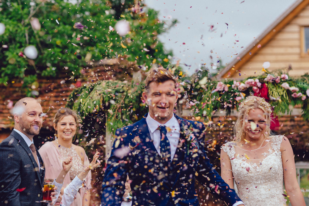 confetti bride and groom Birmingham photographer wedding country artistic wedding photography38.jpg