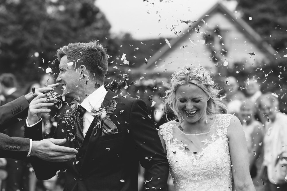 confetti bride and groom Birmingham photographer wedding country artistic wedding photography39.jpg