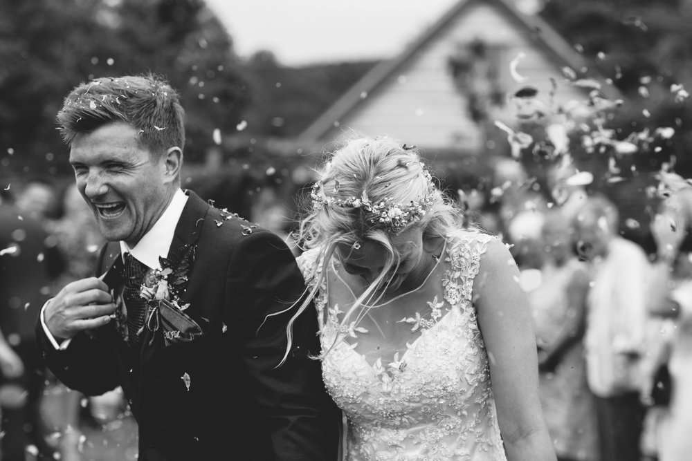 confetti bride and groom Birmingham photographer wedding country artistic wedding photography40.jpg