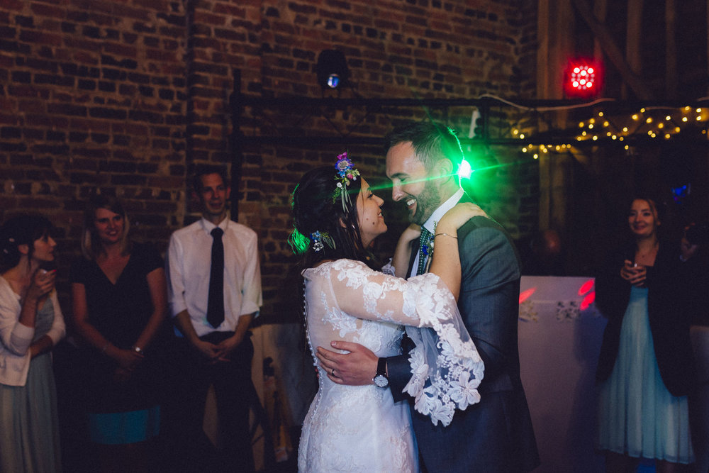 35Curious Rose Wedding Photography- Laura Rhodes- Newton Park Farm- Birmingham Artistic wedding photography-bride and groom first dance.jpg