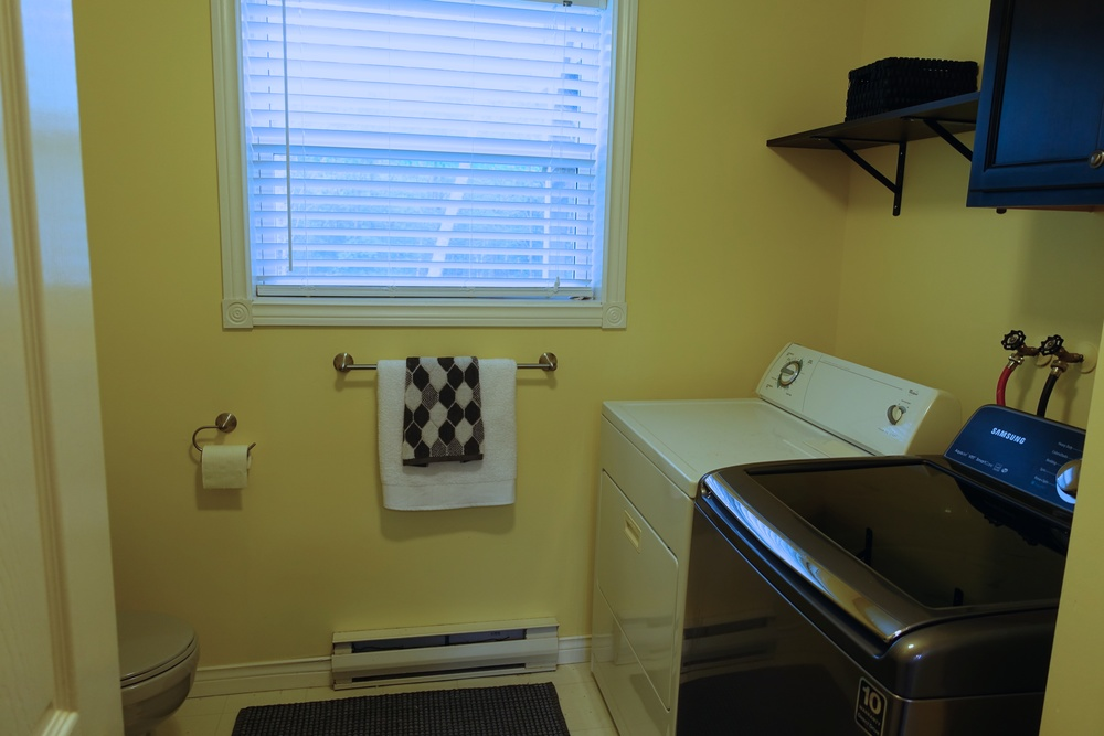 Lower Level bath and laundry area