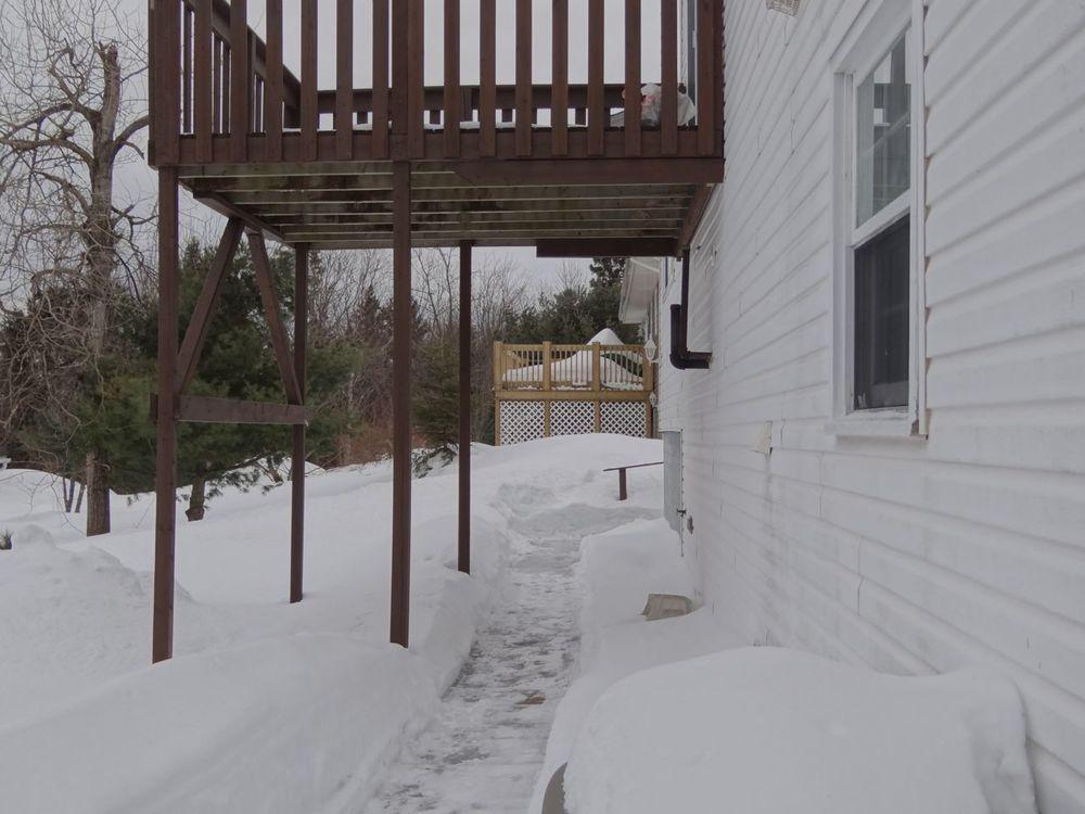 Back walkway & deck