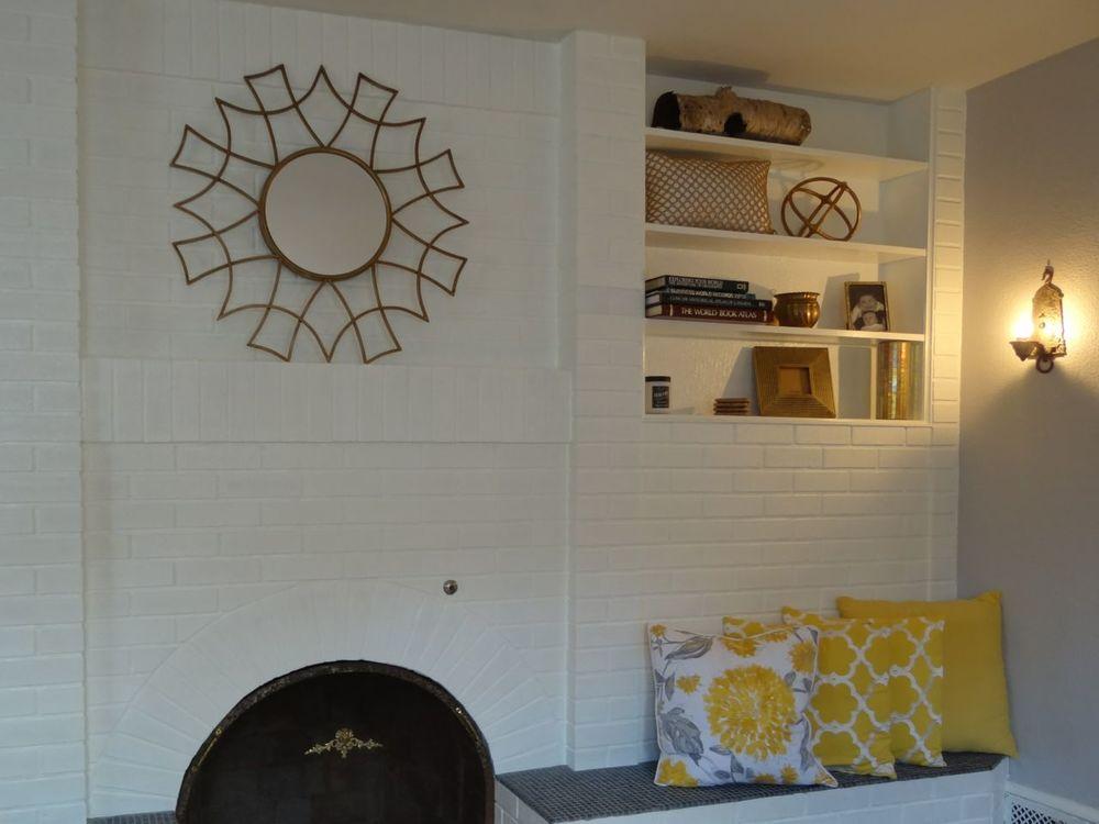 Living room brick wall