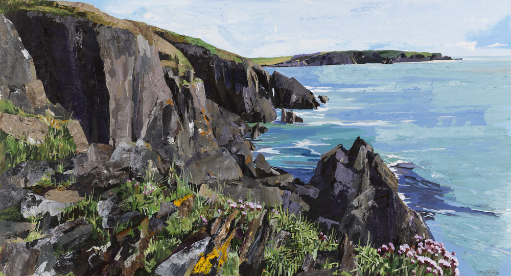 Cliff Rambling near Dirk Bay, Galley Head. West Cork Art.
