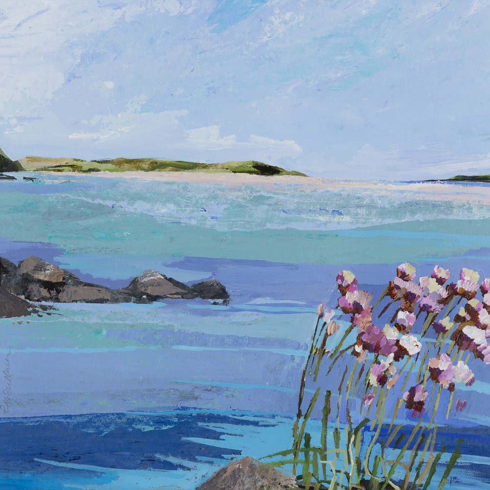 Summer Sea Pinks, The Channel Inchydoney, 55x54.jpg