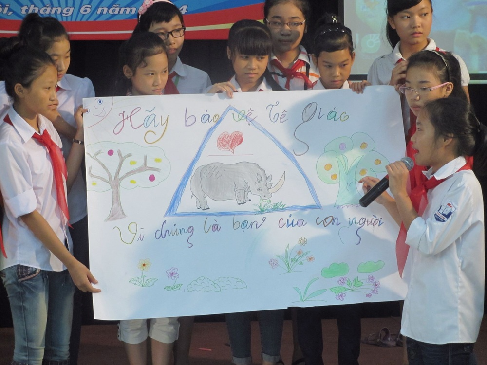 Picture:  The launching event in Le Duan school