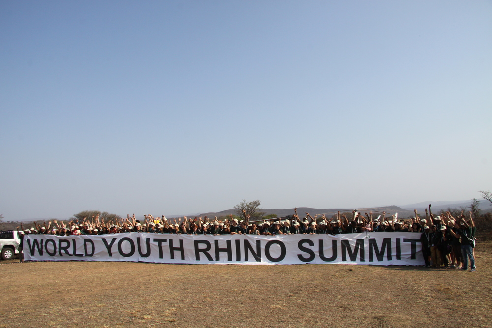 The first ever World Youth Rhino Summit at iMfolozi Game Reserve, KwaZulu-Natal, South Africa