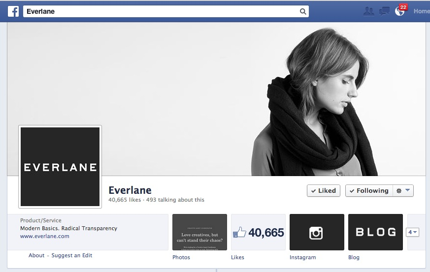 Everlane Imagery on Facebook