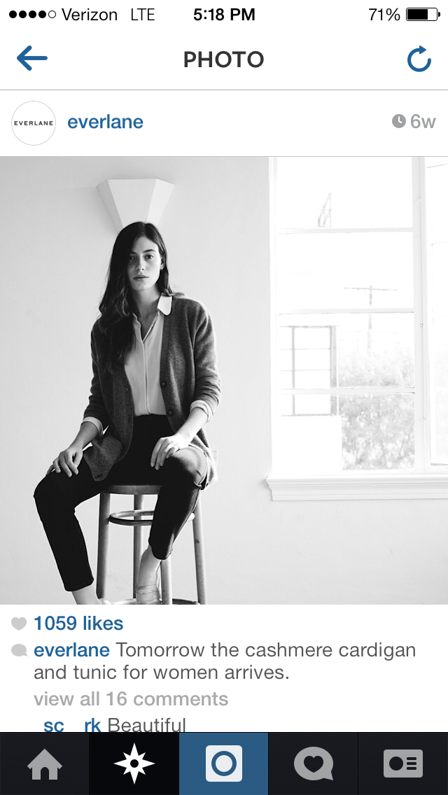 Everlane Imagery on Instagram