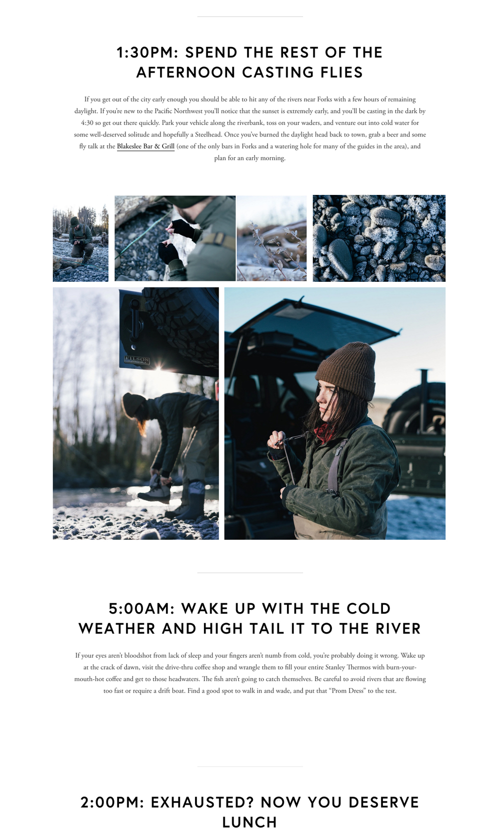 A snippet of the story published on Filson's Exposure page