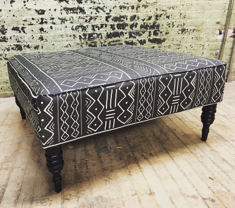 Mud Cloth Ottoman