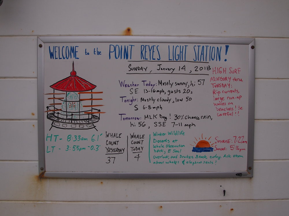 Point Reyes Lighthouse Welcome Board.JPG