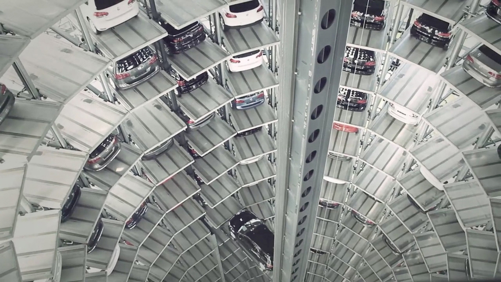 Inside the VW Car Tower, Wolfsburg – Scene from Design the New Business Movie