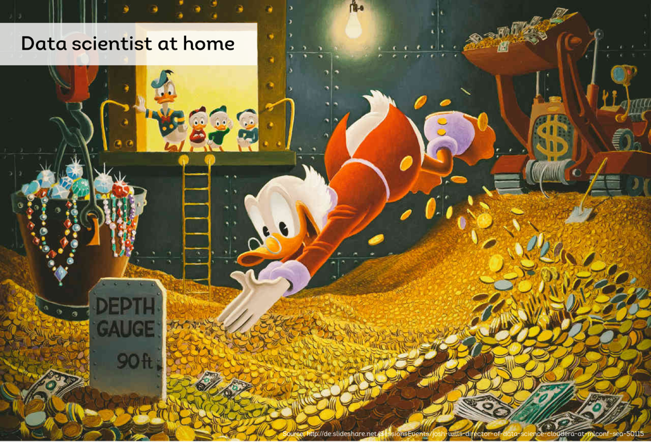 """""""Data scientist at home""""(adapted from Josh Will's presentation)"""