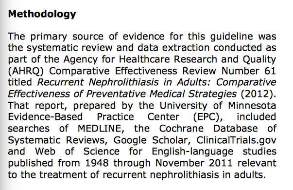 ...was the same in both clinical practice guidelines.
