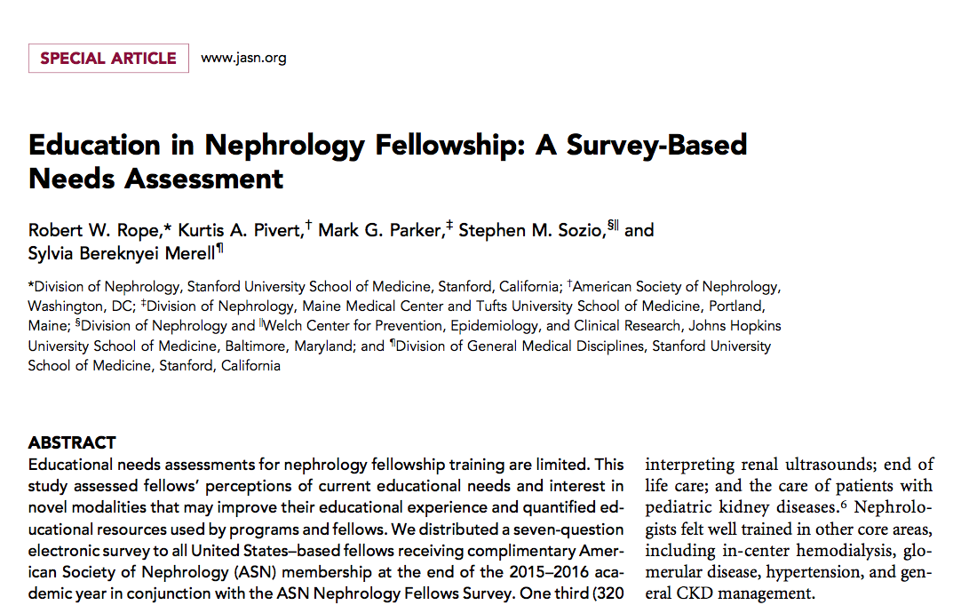 Nathaniel talks about the State of the Nephrology Fellowship