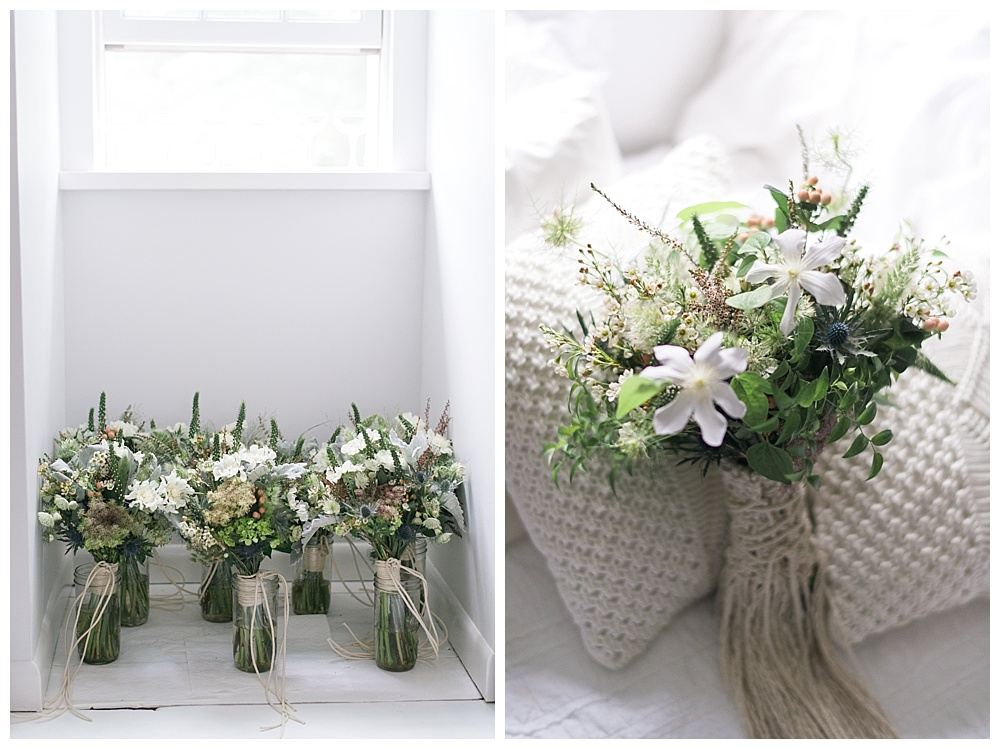 anthropologie wedding with flowers and macrame