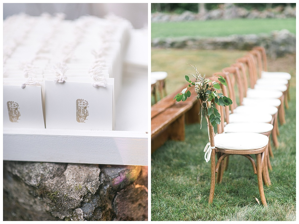 pantone greenery and embossed ceremony programs