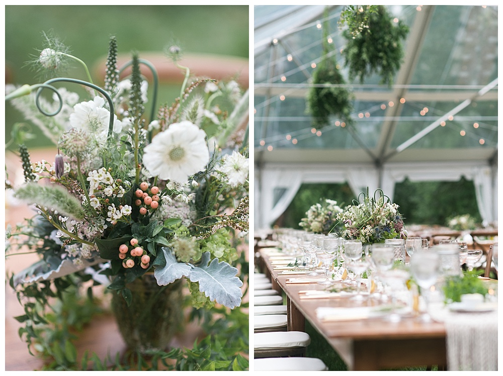 wildflower and macrame private estate wedding new england