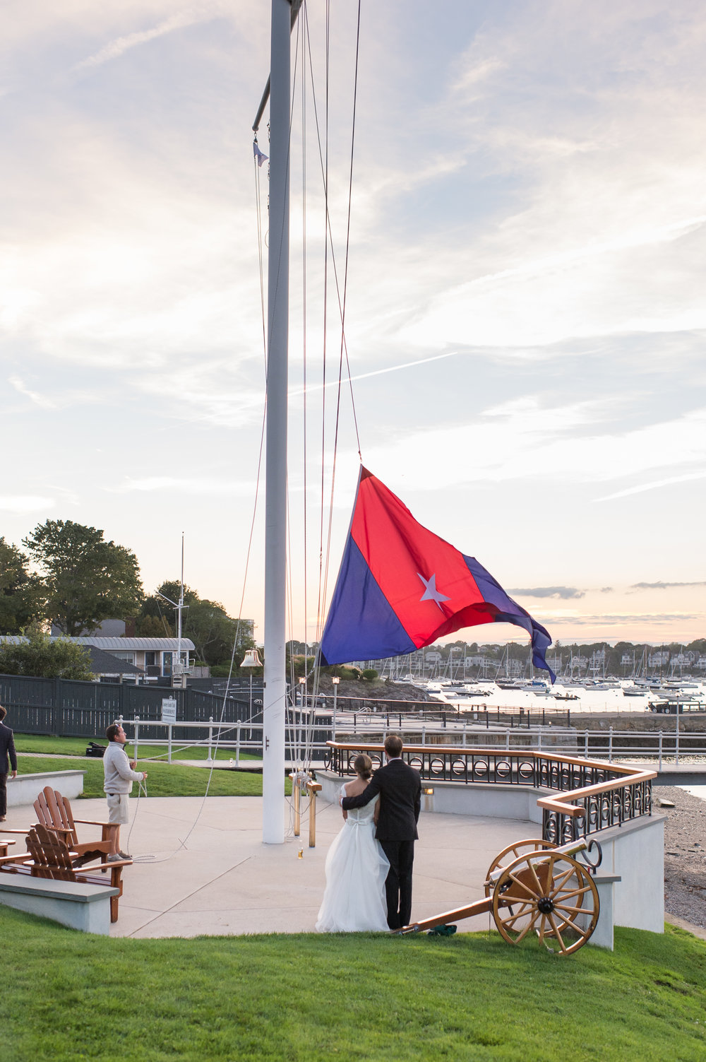 Marblehead Boston Monogrammed Yacht Club Wedding