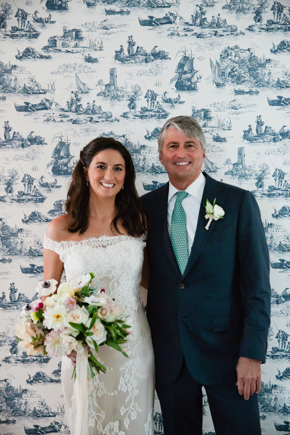 blush and navy and green cape cod chatham wedding