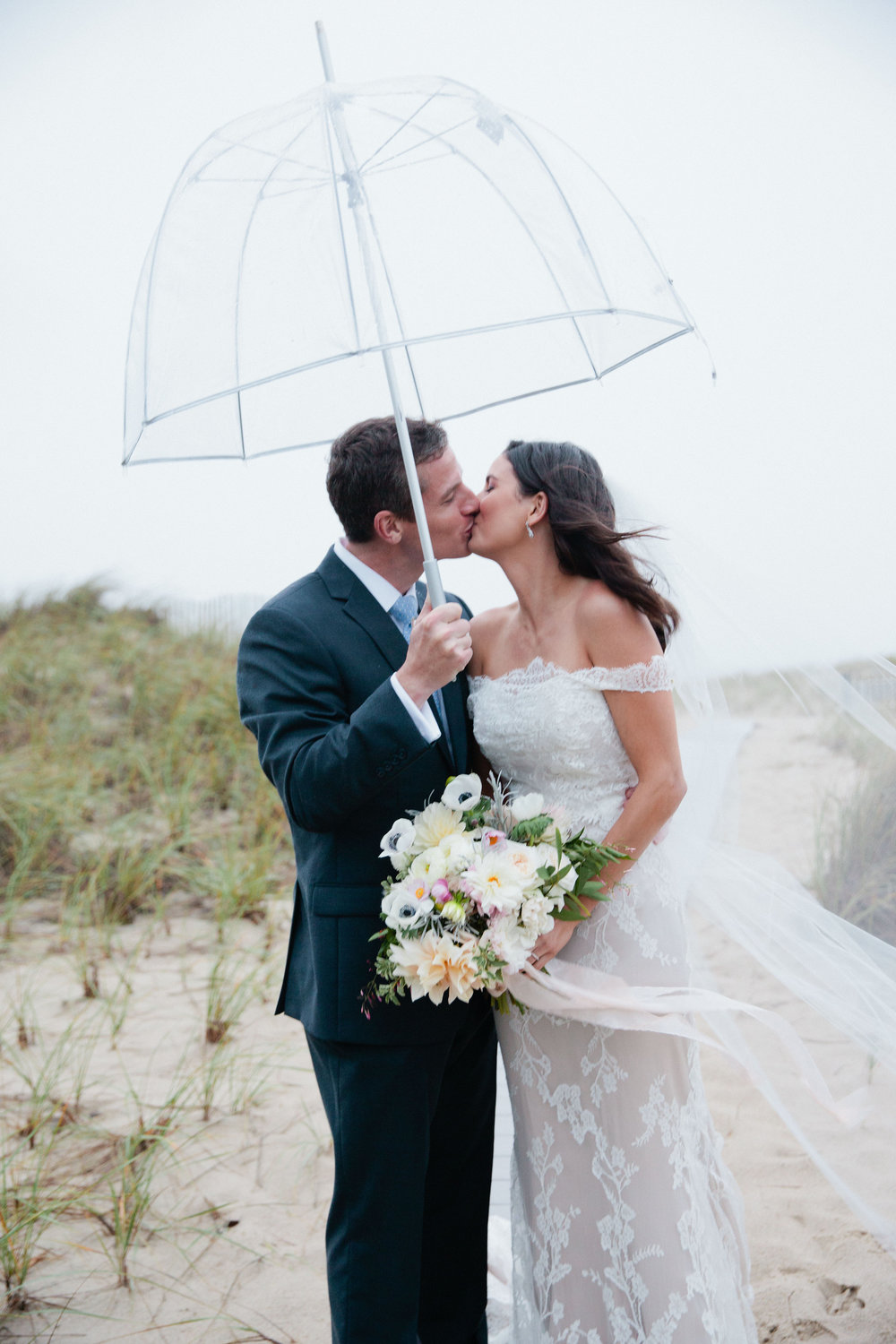 gorgeous rainy day wedding on cape cod
