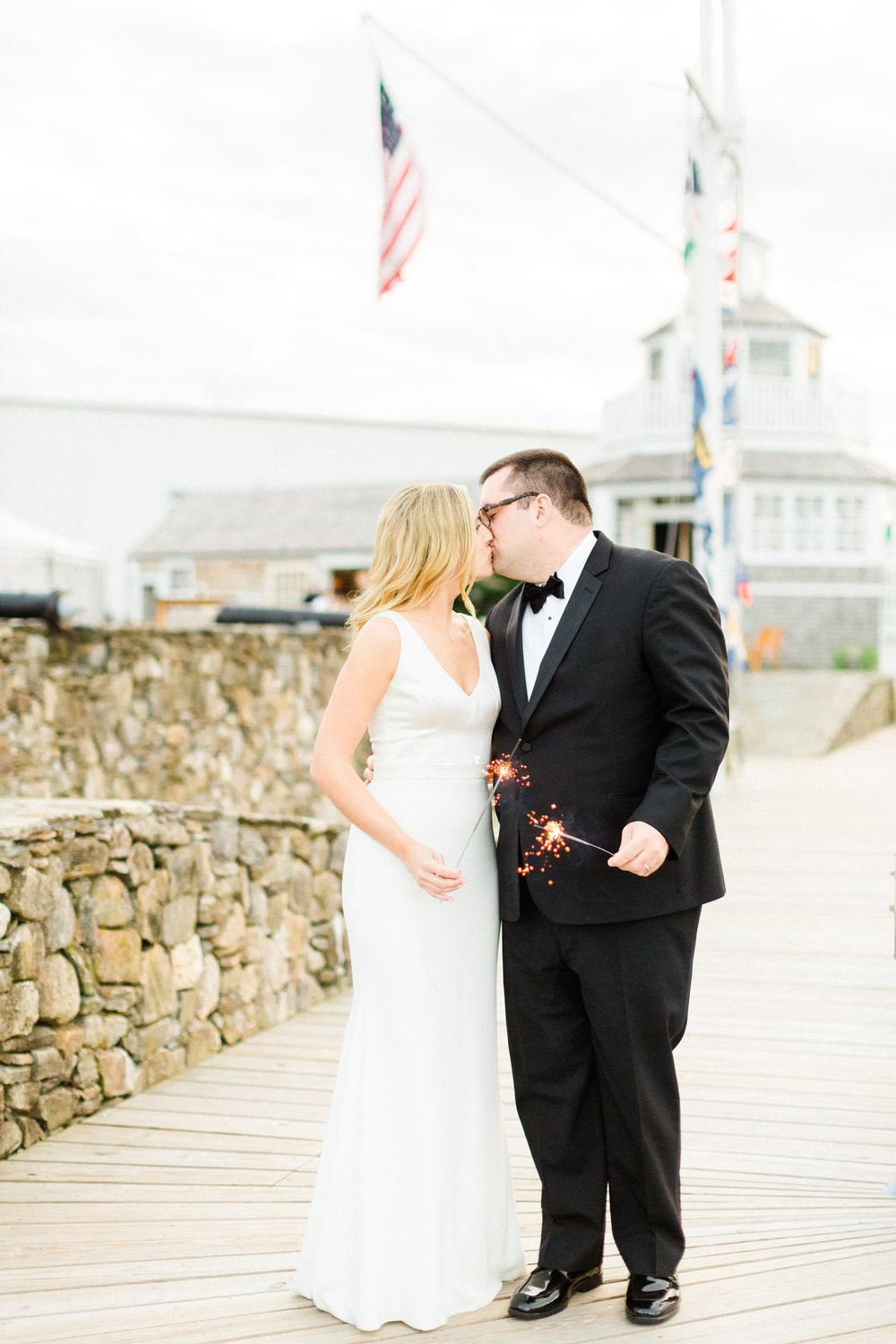 cape cod wedding with sparklers always yours events