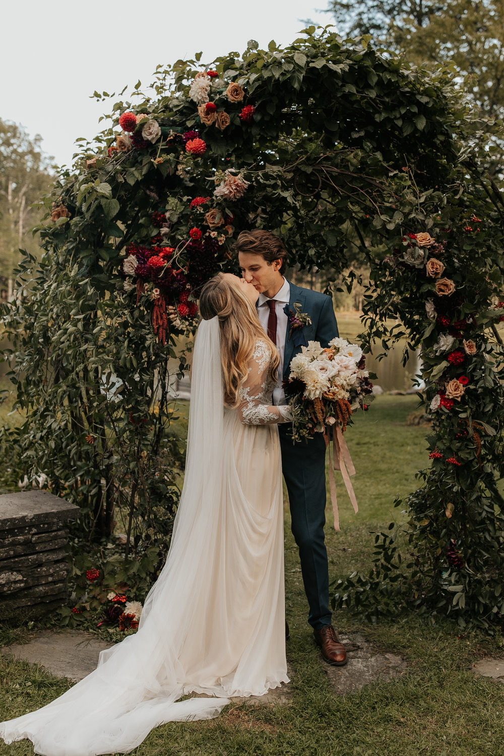 Hilary + Clay's Stowe, Vermont Wedding - If You're Planning a Boho Chic Wedding, Look No Further Than This Post for Inspiration.