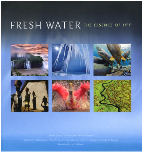 "From Conservation International: "" Fresh Water: The Essence of Life is a beautifully and sometimes starkly depicted look at the current state of Earth's freshwater ecosystems.  A variety of authors, as well as dozens of the world's most accomplished photographers, tell us a story we may feel uncomfortable hearing: Earth's freshwater supply and systems are in serious peril."""